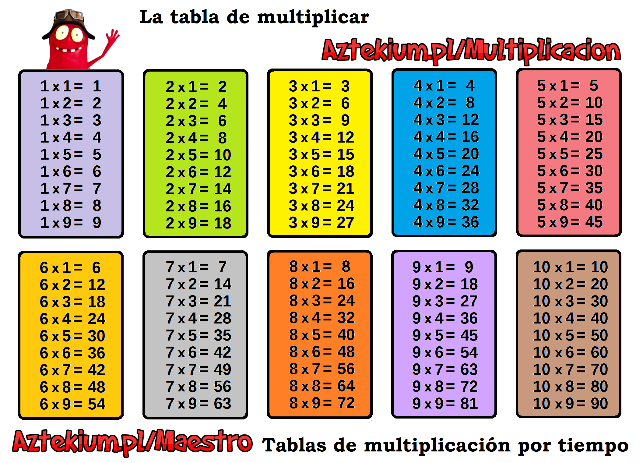 Tablas De Multiplicar Para Imprimir Tamano Folio